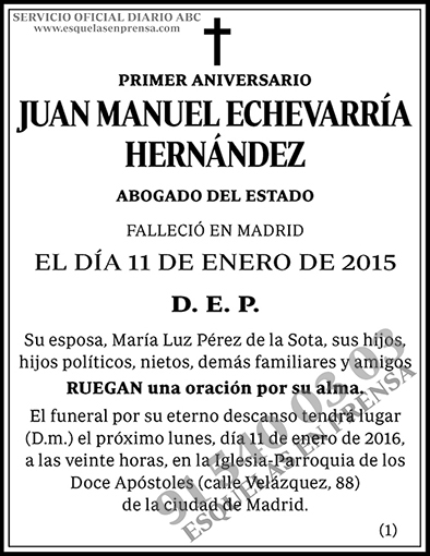 Juan Manuel Echevarría Hernández